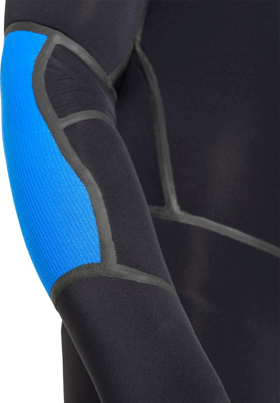 Embossed elbow flex panels