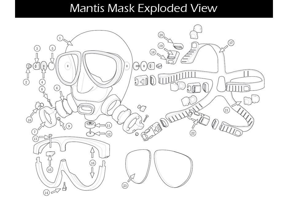 Mantis Mask Parts