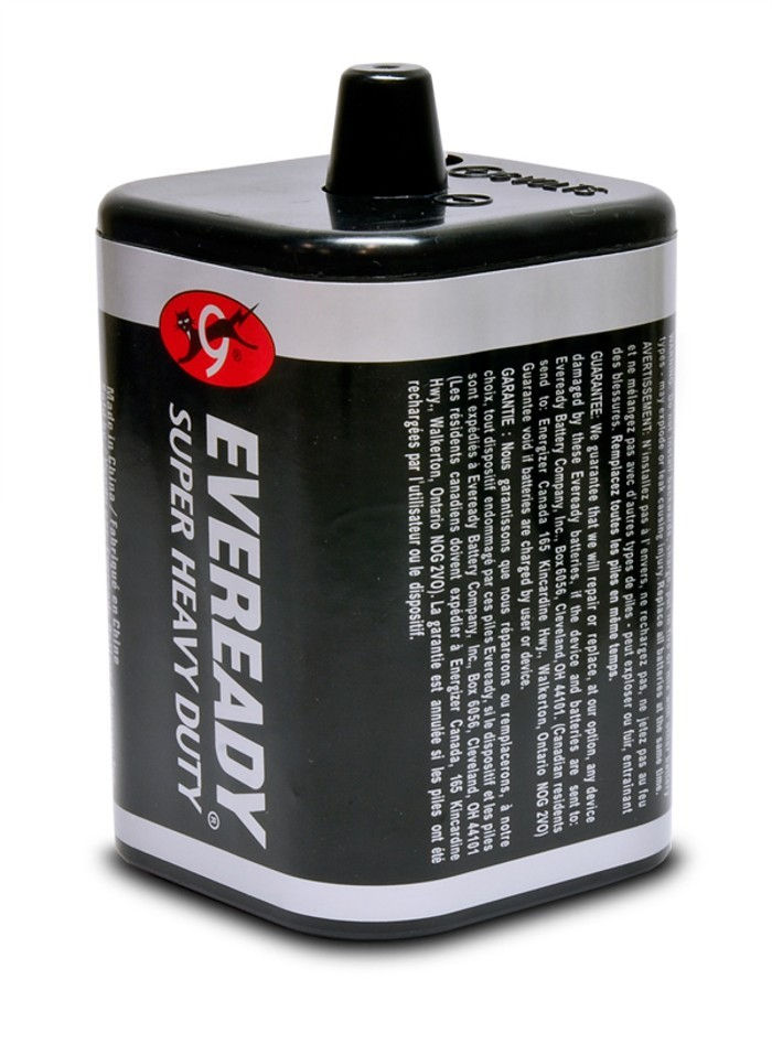 6VDC Non-Rechargeable Spring Top Dry Cell Battery