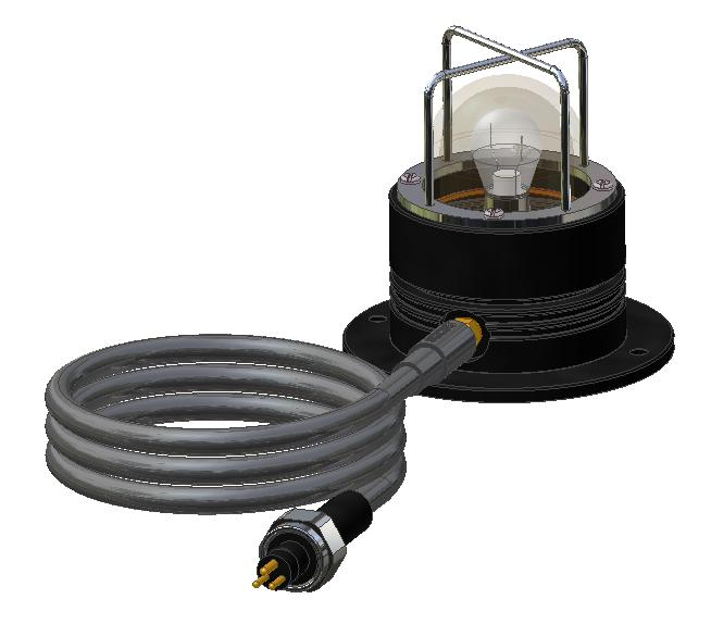 BIRNS 4132 General-Area Chamber Light w/ Connector