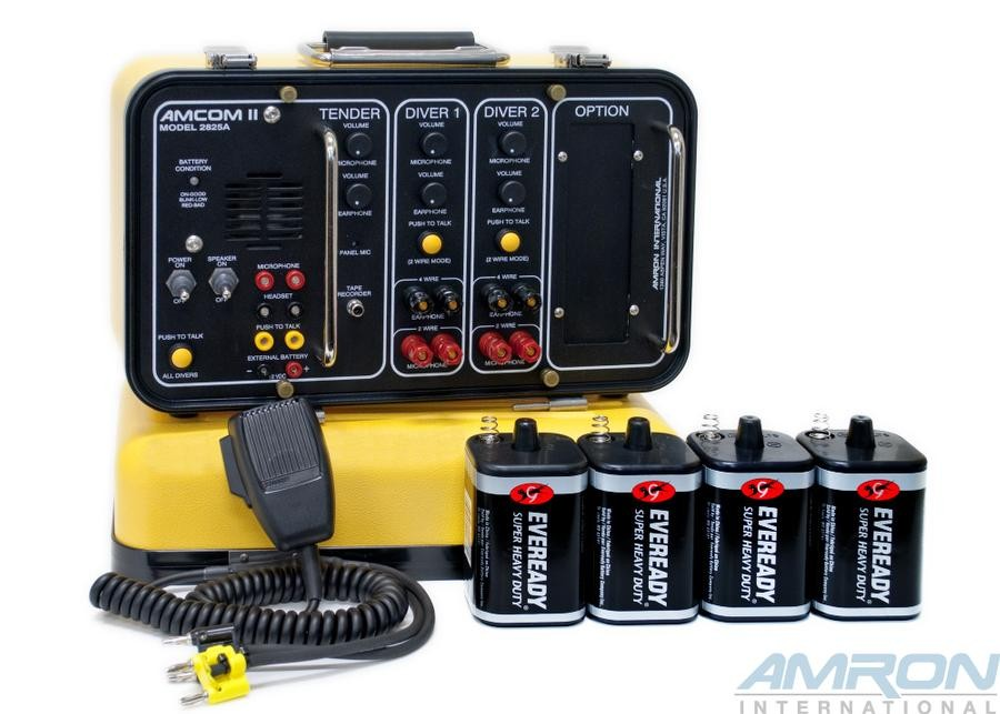 Amcom II 2-Diver Deluxe Portable Non-Rechargeable Communicator (Lantern Batteries)
