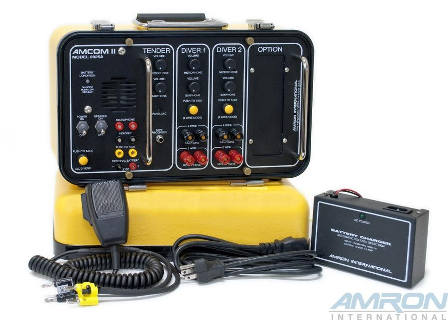 Amcom™ II 2-Diver Deluxe Portable Rechargeable with Gel Cell Batteries & Charger