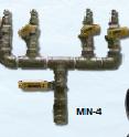 """4 Station Manifold 1/4"""" S.S."""
