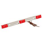 WESBAR RED WATERPROOF ID LIGHT BAR STAINLESS STEEL