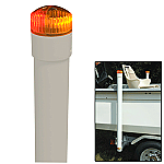 "CE SMITH 60"" POST BOAT GUIDE ON W/ LED TOP LIGHT"