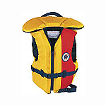 MUSTANG LIL' LEGENDS YOUTH'S  FLOATER VEST 50-90 LBS GD/RD