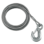 """FULTON 3/16"""" X 25' GALVANIZED WINCH CABLE & HOOK 4200lbs."""