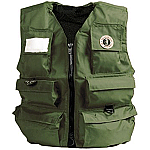 MUSTANG MANUAL INFLATABLE FISHERMAN'S VEST OLIVE
