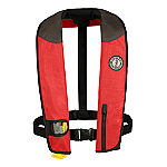 MUSTANG DELUXE MANUAL ADULT INFLATABLE UNIVERSAL RD/BK/CR