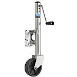 "Fulton® 1000 LB. Zinc Plated Swivel Jack w/ 6"" Poly Wheel"