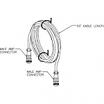 TC-55M TRANSDUCER CABLE (EXTENSION FOR STX-101/M SURFACE UNITS)