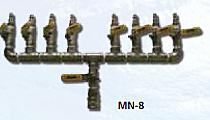 """8 Station Manifold 1/4"""" S.S."""