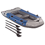 SEVYLOR COLOSSUS 4 PERSON INFLATABLE BOAT W/ OARS