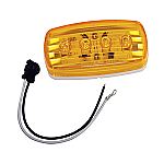 WESBAR LED CLEARANCE-SIDE MRKR LIGHT AMBER #58 WITH PIGTAIL
