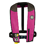 MUSTANG DELUXE MANUAL ADULT INFLATABLE W/HARNESS PK/BK/CR