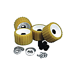 C.E. SMITH RIBBED ROLLER REPLACEMENT KIT 4 PACK GOLD