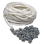 """POWERWINCH 200' OF 1/2"""" ROPE 15' OF 1/4"""" HT CHAIN RODE"""