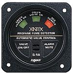 """Xintex S-1A 2"""" Square Bezel Propane Detector w/Plug-In Sensor & Solenoid Valve"""