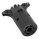 Wesba Vehicle/ Trailer Adapter - 7-Way Blade to 4-Way Flat
