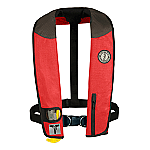 MUSTANG DELUXE MANUAL ADULT INFLATABLE W/HARNESS RD/BK/CR