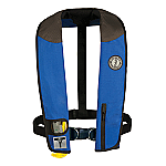 MUSTANG DELUXE MANUAL ADULT INFLATABLE W/HARNESS RY/BK/CR