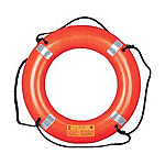"MUSTANG 24"" LIFE RING WITH TAPE ORANGE"